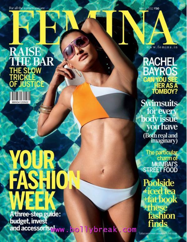 Rachel Bayros in Bikini Femina Magazine Cover Scan - Rachel Bayros Femina Magazine Cover Scan