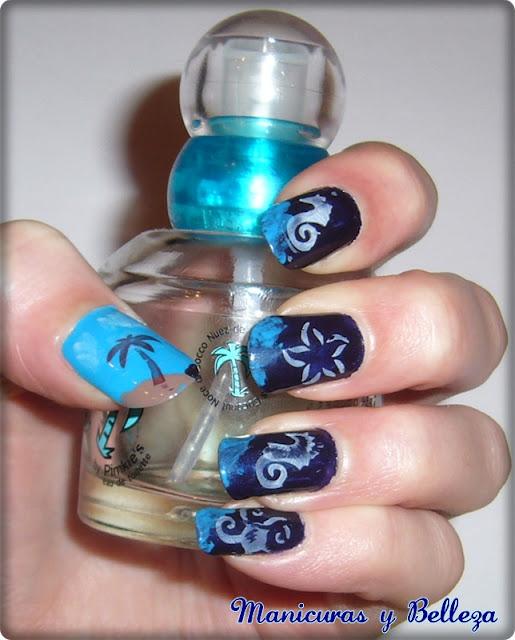 bajo del mar nail art
