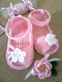 Crochet Pattern Baby Girl Sandals : Rosangela Artes & Linhas: Sandalinhas e sapatinho em croch?