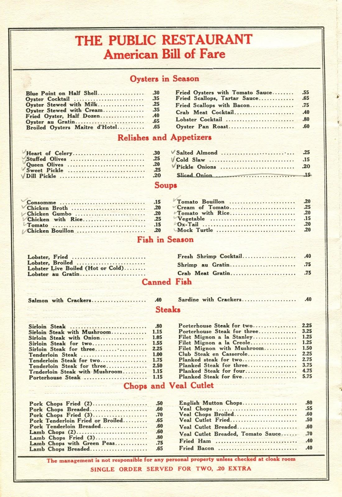 The american menu west meets east for American cuisine menu