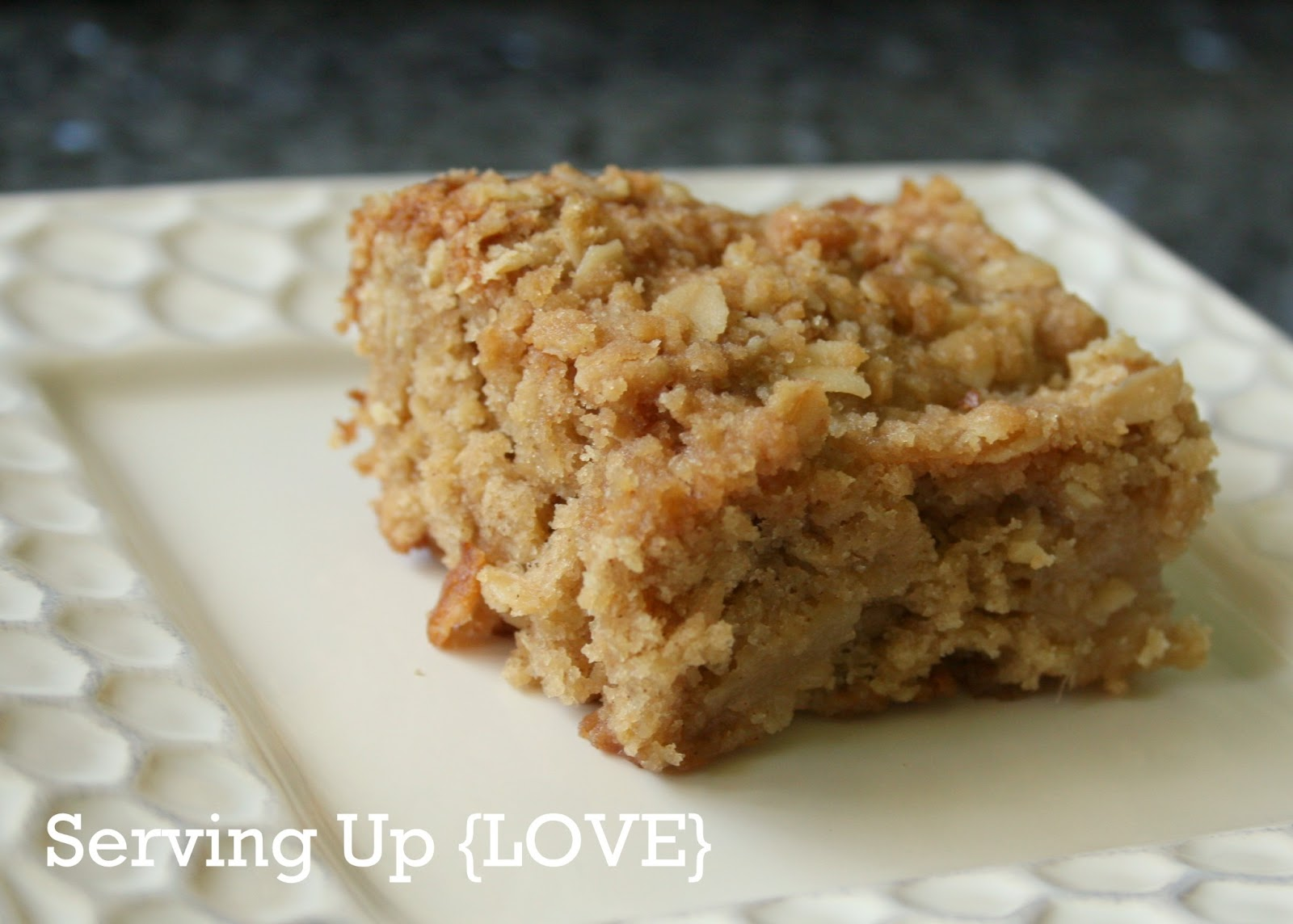 Katherine's Kitchen: Serving Up {Cake}: Spiced Oat Pear Blondies
