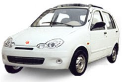 tara tiny white modal electric car