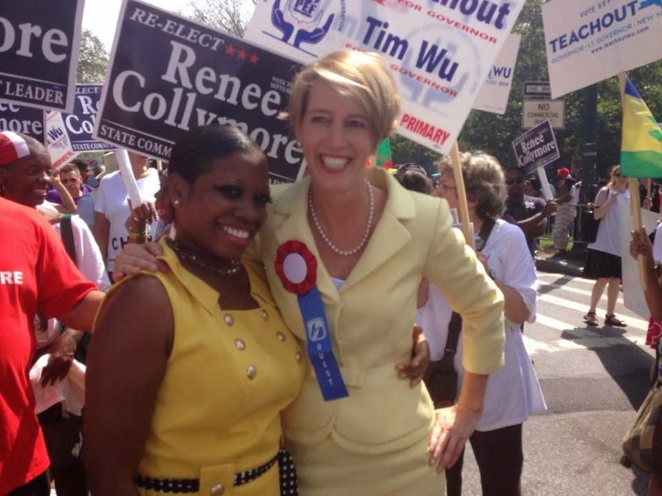Looking the Part...Gubernatorial Hopeful Teachout  at West Indies Parade