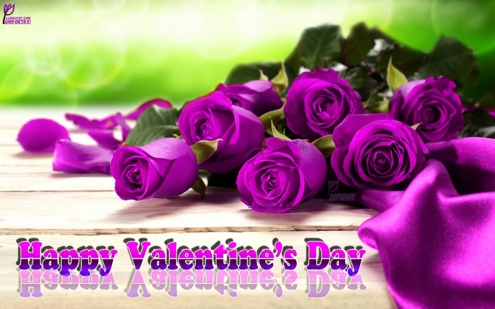 Happy-Valentines-Day-Wishes-Wallpaper-Image-With-Pink-Flowers-Image-HD-Wide