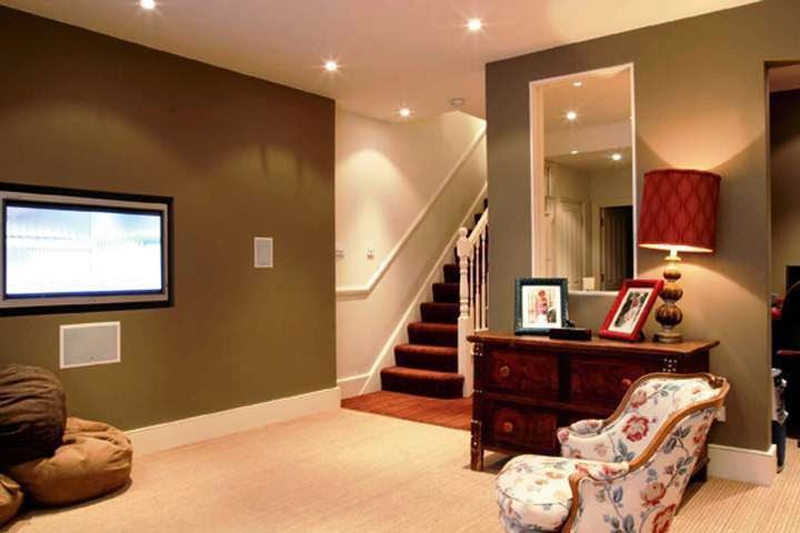 Best paint color for basement family room for Cost to build a bar in basement