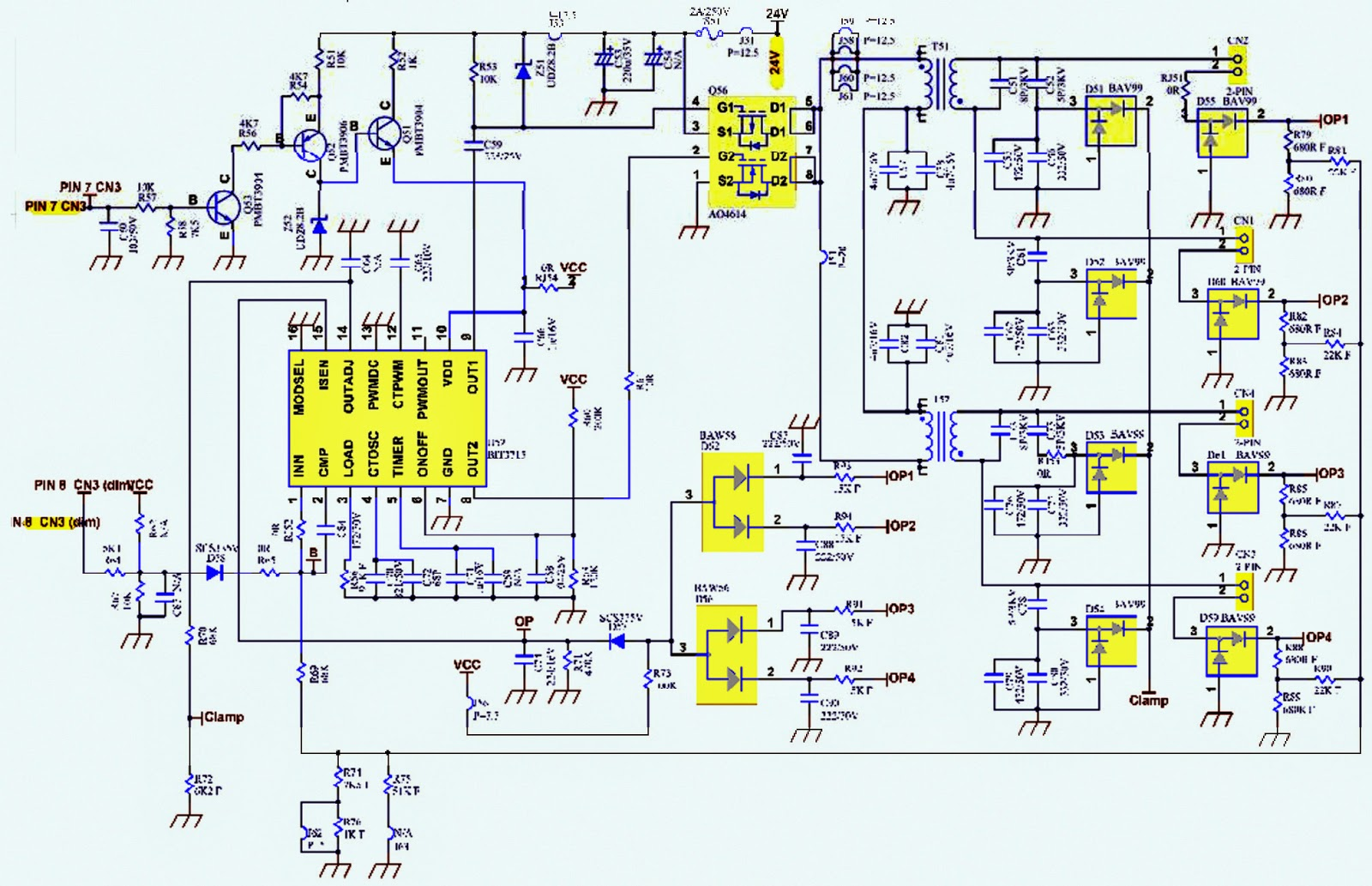 asus vw 223 lcd monitor power supply and inverter schematic rh electronicshelponline blogspot com