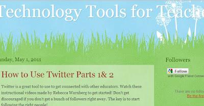 http://technologytools4teachers.blogspot.com/