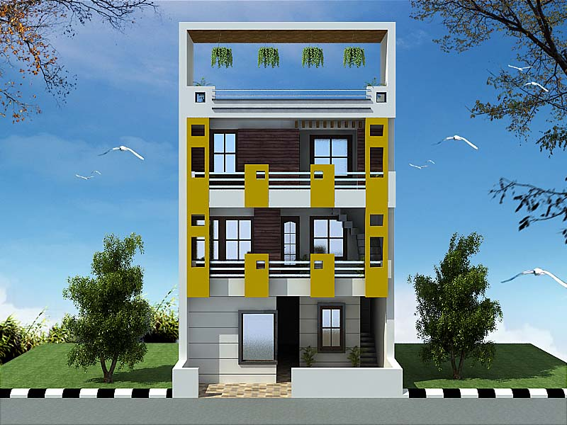 Studio apartments design 3d architectural solution india for Studio apartment design 3d