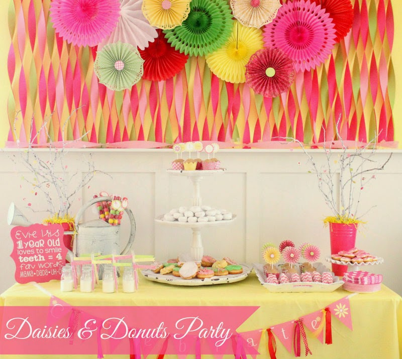 Daisies And Donuts First Birthday Theme
