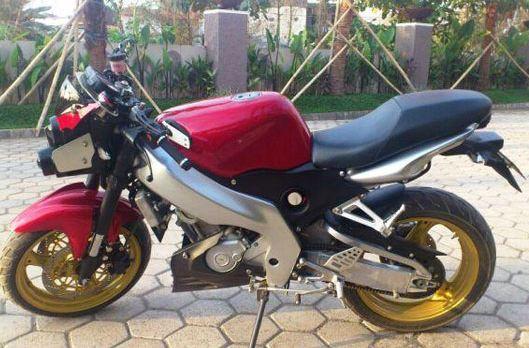 Tangki menggunakan Yamaha TZM 150, modifikasi deltabox yamaha vixion  title=