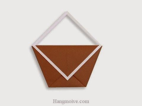 Cách gấp, xếp cái túi bằng giấy origami - Video hướng dẫn xếp hình đồ thời trang - How to fold a Bag