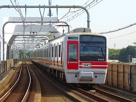 相模鉄道 快速 湘南台行き4 9000系赤塗装9705F