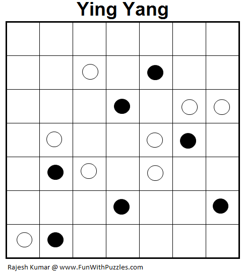 Ying Yang (Logical Puzzles Series #9)