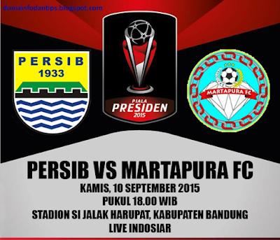 Persib vs Martapura FC Piala Presiden 2015