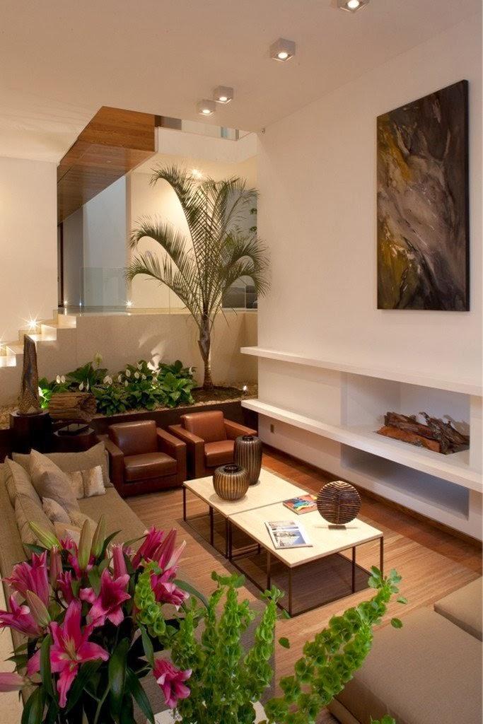 Modern living room in Casa del Agua by Almazán Arquitectos Asociados