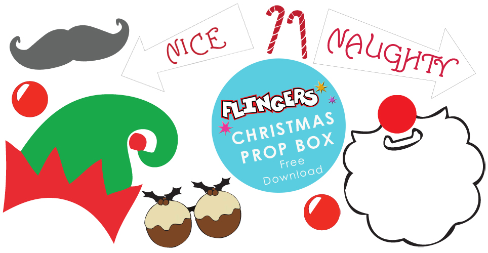 free christmas party photobooth props