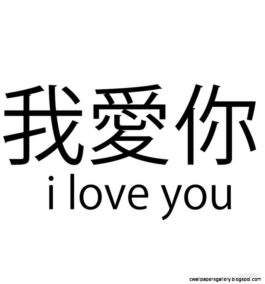chinese words i love you by wclokkt  Redbubble