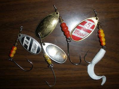 Mepps with single hooks