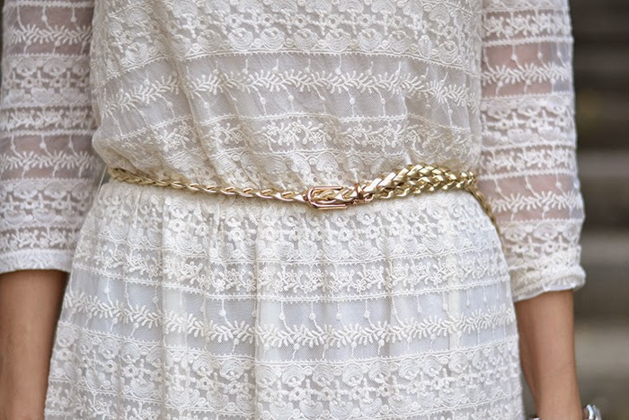 cintura intrecciata oro