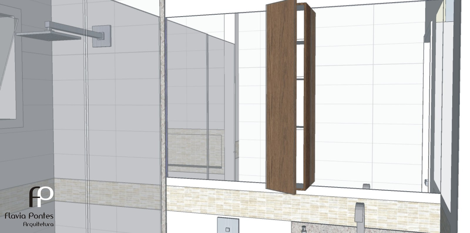Detalhe do armário aéreo com prateleiras em alturas de 30 25 e 18  #7B634F 1600x793 Armario Banheiro Antigo