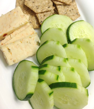 Cheese and Veggie Snack Plate