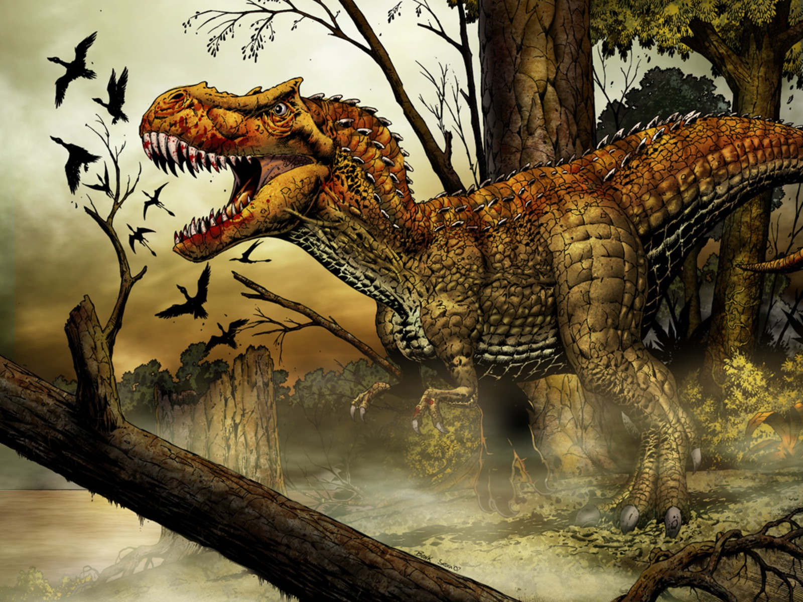T rex wallpapers animal literature for Tyranosaurus rex