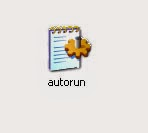 Remove autorun.inf virus from drives using notepad