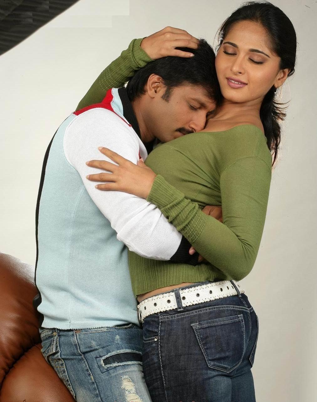Anushka Shetty Hot Kiss