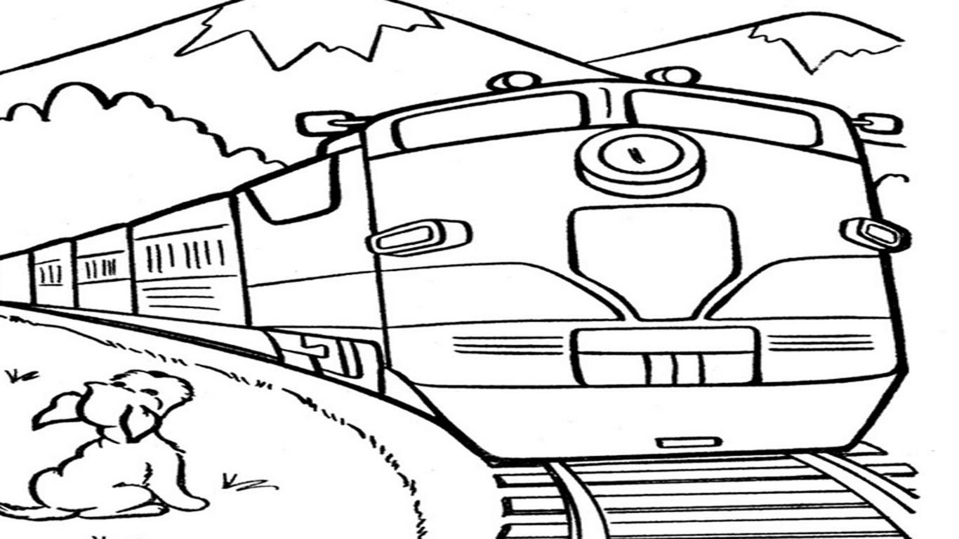 Gambar Kereta Api Kartun Yang Diwarnai