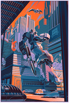 "Wizard World Philadelphia Comic Con 2013 Exclusive Transformers ""Soundwave"" Standard Edition Screen Print by Laurent Durieux"
