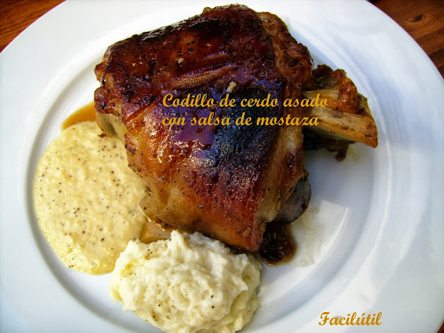 codillo-de-cerdo-asado-con salsa-de-mostaza