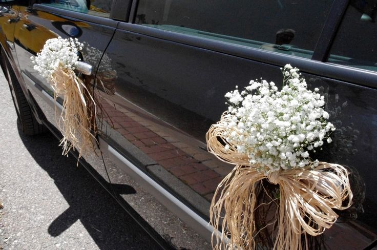 Ya viene la novia adornos para el coche nupcial - Decoracion coche novia ...