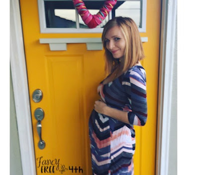 Maternity Fashion, an Anthropologie Maxi does wonders to dress the bump