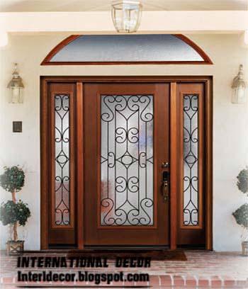 Italian wrought iron glass door inserts for modern houses for New home door design
