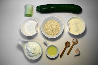 Tortitas de quinoa y calabacin con parmesano - ingredientes