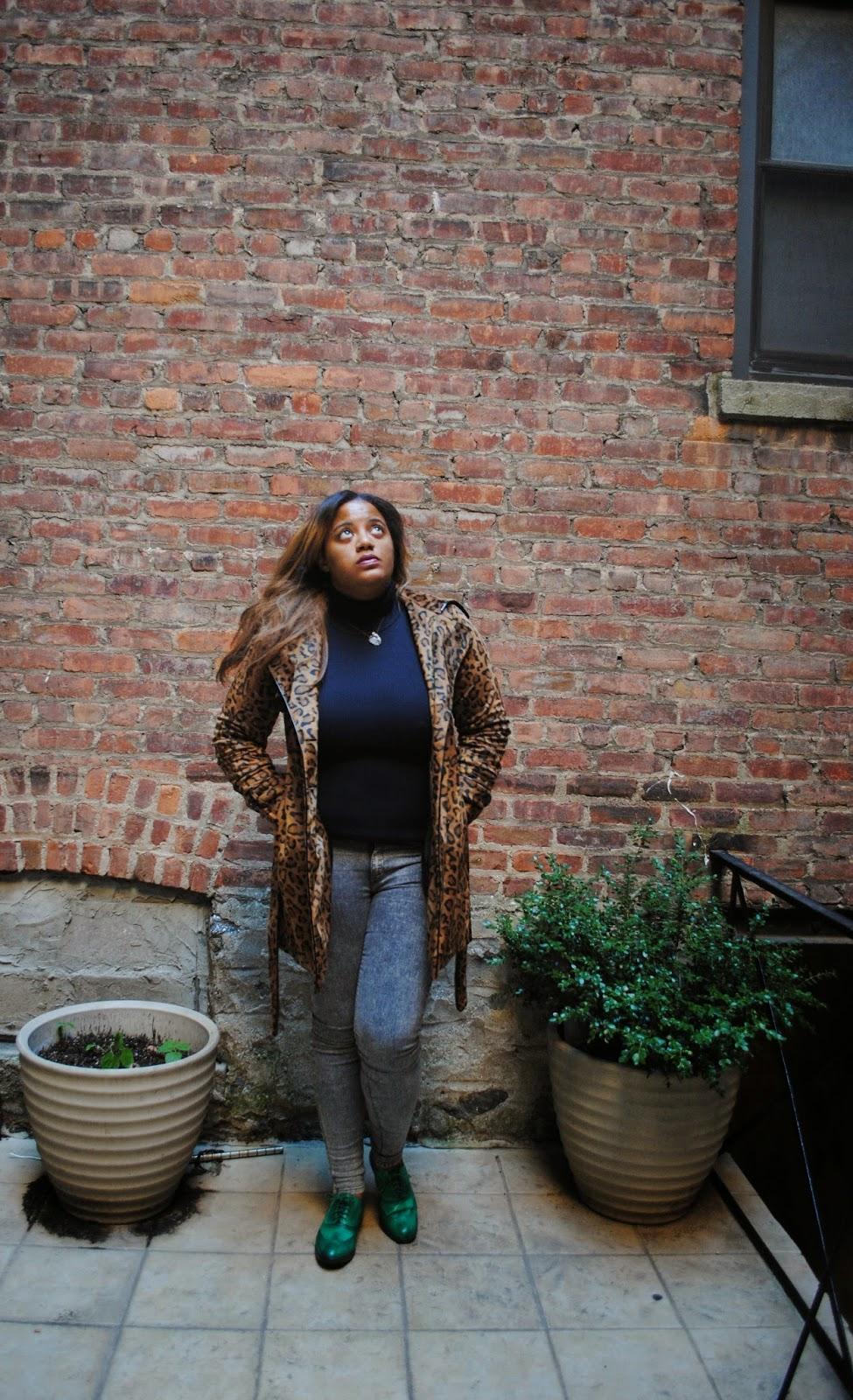 Edie's Closet, leopard coat