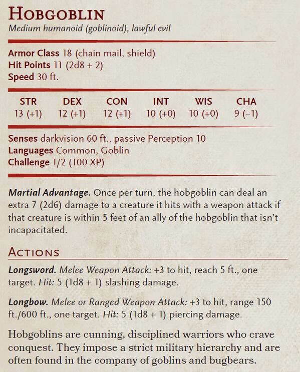 d&d monster stat block maker