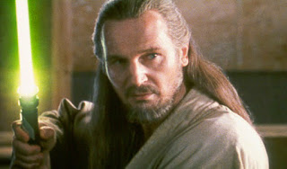 Qui Gon Jinn is a wise Jedi but a poor salesman