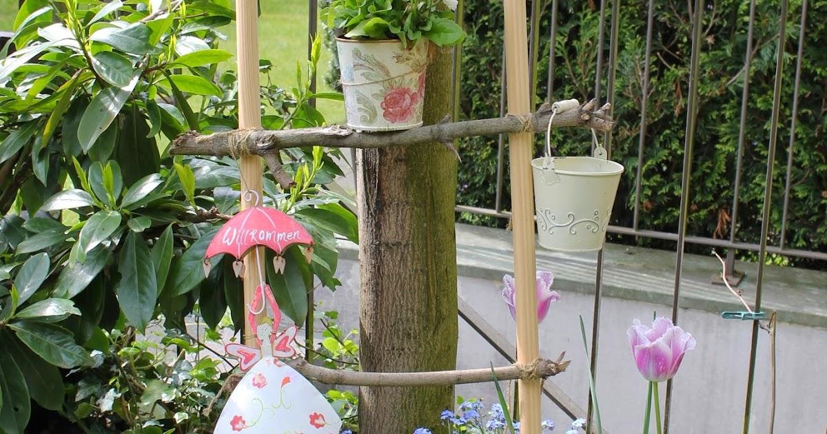 Schichtsalat: DIY Dekoleiter für den Garten