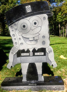 Iraq veteran's SpongeBob SquarePants headstone removed from cemetery
