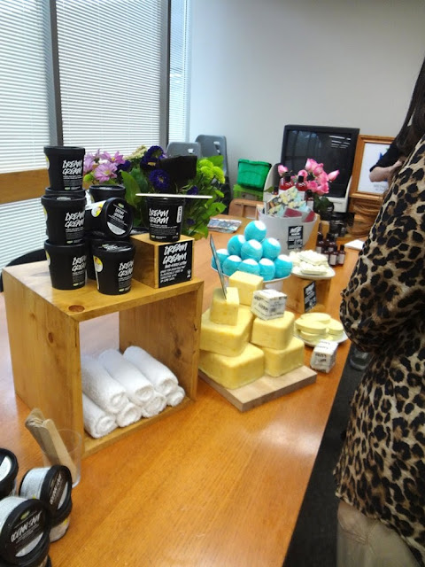 Lush Demo Table at #Blogvancity