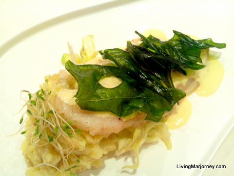 Bonfire: Pan Seared Creamy Dory and Spinach Fillet