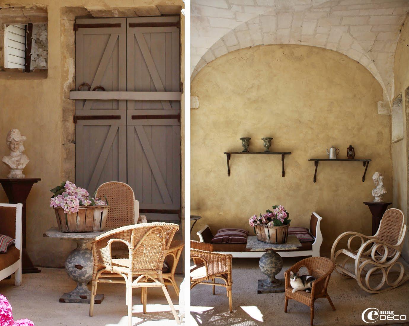 Loge du Posterlon, maison d'hôtes dans le Vaucluse, avec sa voûte d'arêtes appareillé