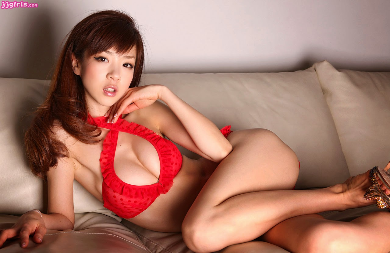 Japanese av models are fondling a cock for a 8