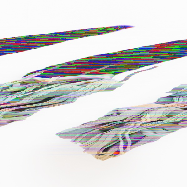 Glitch Art diagonally distorted version of Promotion Brooch by Fliss Quick.