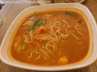 tom-yum soup with noodles