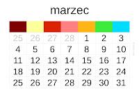 kalendarz 2013 - marzec