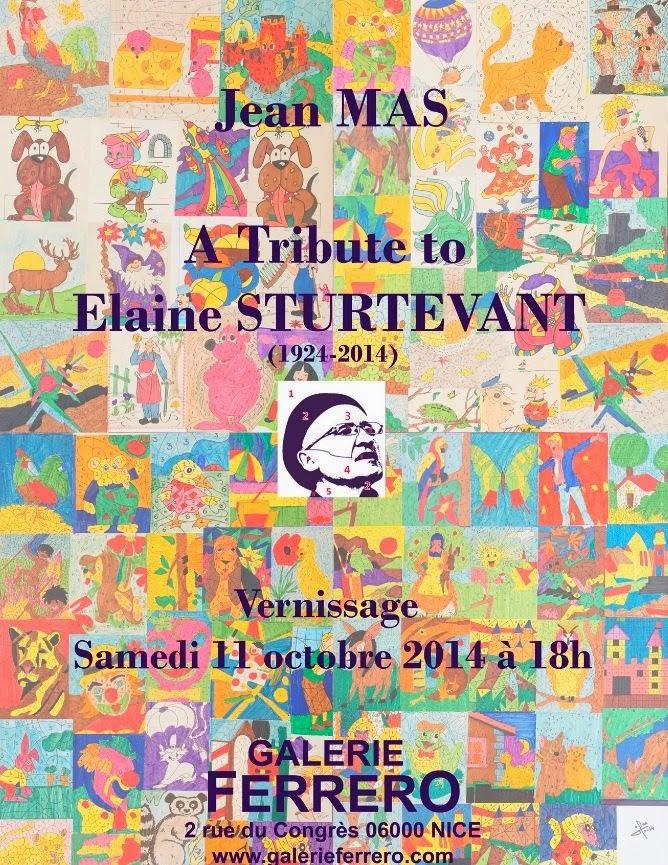 Jean MAS, Hommage à Elaine STURTEVANT, Galerie Ferrero – Nice, France