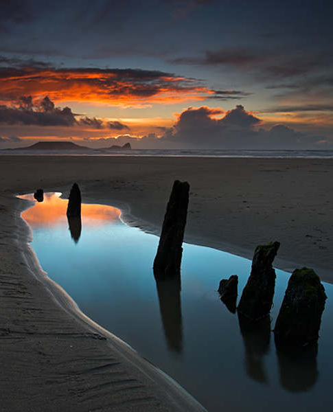 Oxwich Bay,Gower Peninsula,UK: