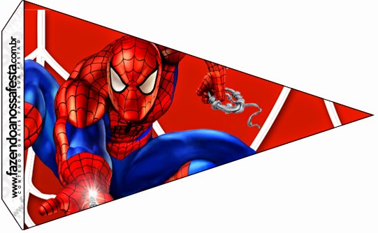Spiderman Food Flags.